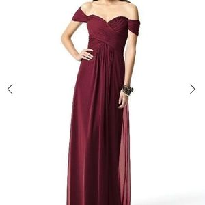 Dessy Collection - 2844 Dress In Burgundy